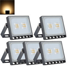 5X 10W Thin Led Flood Light Warm White Landscape Spotlight Spot Lamp New Ip67