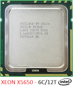 Intel Xeon X5650 - 6C/12T - Socket 1366 - 2,66/3,06 GHz - 12Mo - 6.4GT/s - SLBV3