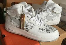 Nike Air Force 1 Mid Premium QS 9.5 White Black Lab Sf Af1 Snake Skin