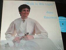 JANE EMERSON Walk in His Light LP PRIVATE RURAL ND FEMME XIAN FOLK STRANGE COVER