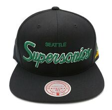 Mitchell & Ness Seattle Supersonics Foundation Script Adjustable Snapback Cap