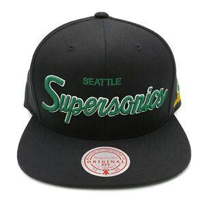 Mitchell & Ness Seattle Supersonics Foundation Script Adjustable Snapback Cap