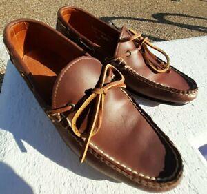 ALDEN - CAPE COD COLLECTION  Boat Shoes - SZ 9.5D - H430 Moc Toe Brown