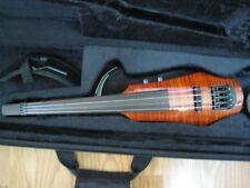 NS Design NEW -WAV-4 Electric 4-String Amber Burst Violin with Hard Case