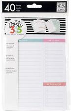 """Create 365 Mini Happy Planner Fill Paper 4.5""""x7"""" 40/Pkg-White Daily"""