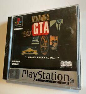 SONY PLAYSTATION 1 PS1 PLATINUM GTA GRAND THEFT AUTO  PAL EU