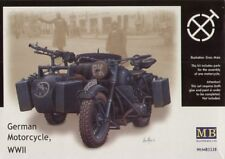 Master Box 1/35 WWII German Motorcycle and Sidecar # 3528