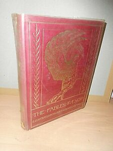 The Fables Of Aesop Illustrated In Colour By Edward J Detmold  1981 EXCELLENT