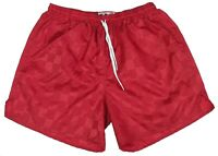 Don Alleson Red Checker Nylon Soccer Shorts - Men's Small