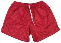 Don Alleson Red Checker Nylon Soccer Shorts - Men's Small