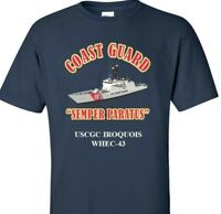 USCGC IROQUOIS  WHEC-43 *COAST GUARD  VINYL PRINT SHIRT/SWEAT