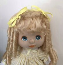 My Child  doll mattel Platinum Blonde Midpart Ringlet Original Part. Blue/ Peach