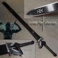 Sword Art Online Kirito Black Elucidator Steel Metal Sword Blade w Scabbard SAO