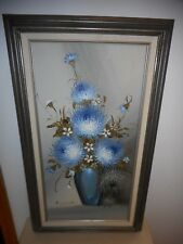 FRANCO RISPOLI (1921-1989)  FRAMED & SIGNED VINTAGE FLORAL OIL PAINTING 29 X 17