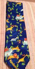 Funny Whimsical Kindercal For Enfamil Men's Necktie Giraffes Lion Elephant Tiger