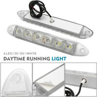 2X 12V LED STRIP DRL DAYTIME RUNNING LIGHTS FOG CAR LAMP WHITE DAY DRIVING