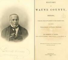 1872 WAYNE County Indiana IN, History and Genealogy Ancestry Family Tree DVD B36