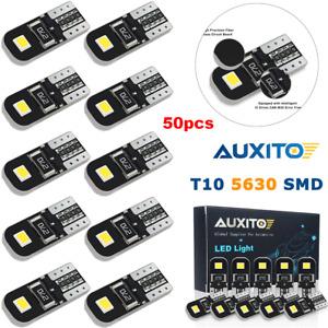 50X CANBUS T10 W5W 192 168 194 LED Interior Light Xenon White 6000K Bulbs Auxito