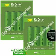 8 x GP Recyko AA Rechargeable Batteries 1000 mAh NiMH HR6, Solar Lights, Phone