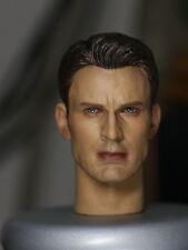 █ Custom Captain America 5.0 1/6 Head Sculpt for Hot toys Steve Rogers Body