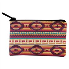 Native American Pattern Red Coin Purse