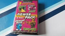 COMMODORE 64 GAME THE CF POWER PACK TAPE 18. TESTED.3 FULL GAMES, & 1 DEMO