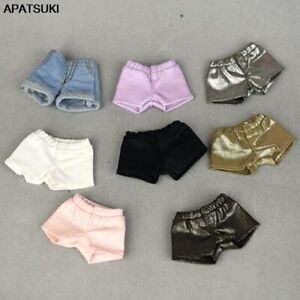 """Fashion Denim Jeans Leather Shorts For 11.5"""" Doll Clothes Outfits For Blythe 1/6"""