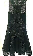 Thurley Black Beaded Size 10 Dress