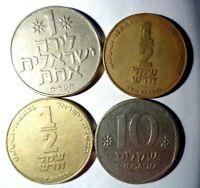 Israel 4 Münzen aus Sammlung. Los 280
