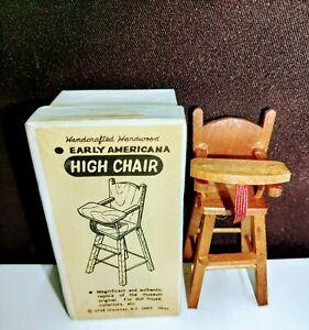 Vint Shackman Doll House Miniatures Early American High Chair w/orig Box No 3798