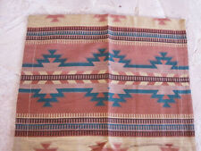 """Southwest King 2 Pillow  Shams Tan, brown teal green loomed acrylic 24 x 30"""" new"""
