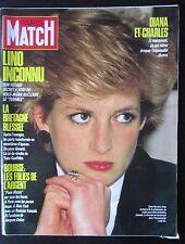 PARIS MATCH 1987 LADY DIANA  LA RUPTURE PLATINI  PHOTOS TEMPETE EN BRETAGNE