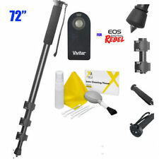 "72"" Camera Monopod + IR Remote Control for CANON EOS REBEL T3I T4I T5I XSI T6I"