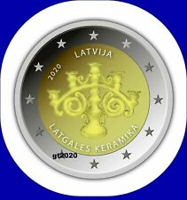 Latvia Lettland kms 2020 COIN 2 euro Keramik  unc from roll presale L