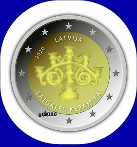 Latvia Lettland kms 2020 COIN 2 euro Keramik  unc from roll