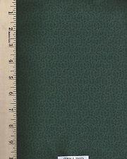 Robert's Antique Calicoes dark  green  RJR  ONE YARD CUT 100% Cotton  Fabric