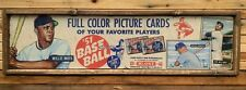 Antique Style 1951 Bowman Baseball Wooden baseball Card Sign Mantle Mays WOW !!