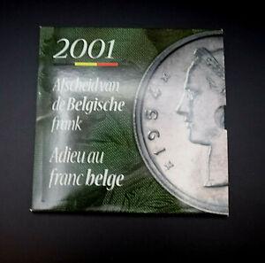 Belgien - KMS 2001 - Abschied vom Belgischen Franc - Kursmünzensatz