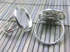 Ringrohling für Cabochons 20mm Silber 1,90€//1BG 2 Stück #U100-02