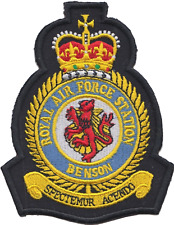 RAF Benson Royal Air Force MOD Crest Embroidered Patch