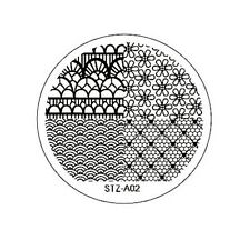 Stamping Schablone Stempel  Fullcover Spitze Muster Netz Wellen Blumen  STZ-02