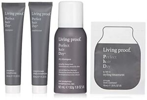 Living Proof Healthy + Strong PHD Mini Kit Dry Shampoo Styler Conditioner Travel