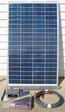 COMPLETE KIT 80 W Watt 80W  Photovoltaic PV Solar Panel 12V RV Boat Off Grid