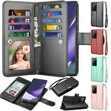 For Samsung Galaxy Note 20 9 8 10 Plus S20 FE 5G Wallet Case Leather Flip Cover