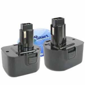 2X Battery works with DeWalt 397745-01 DE9074 DC9071 DE9037 12V 12 Volt 2Ah
