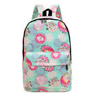 Women Girls Canvas Satchel Shoulder Backpacks School Bag Travel Rucksack Bookbag