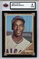 1962 Topps #25 Ernie Banks Graded 4.0 VGE (100519-128)