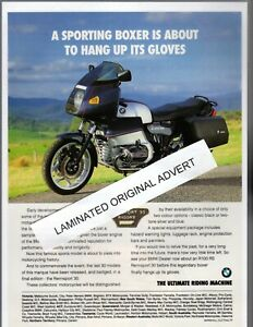 BMW RENNSPORT 30 R100 RS MOTORCYCLE LAMINATED ORIGINAL ADVERT A4 SIZE
