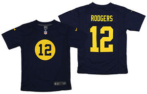 Nike NFL Youth Green Bay Packers Aaron Rodgers #12 Game Team Jersey