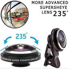 Super 235 ° Clip en Ojo de Pescado Lente de Cámara kits para iPhone 6// 5S/SE/Plus Samsung